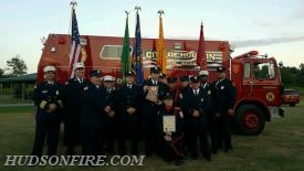The City of Hudson Fire Department Dive Team in front of Water Rescue Unit 17-70.
