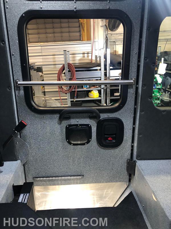 Interior of a rear cab door
