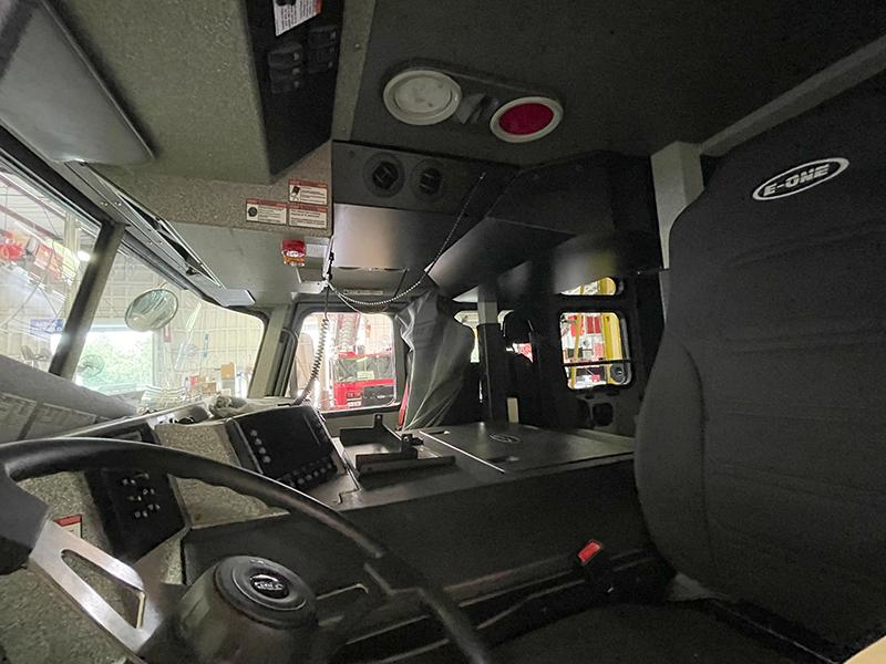 Interior of the Cab from the Drivers Seat