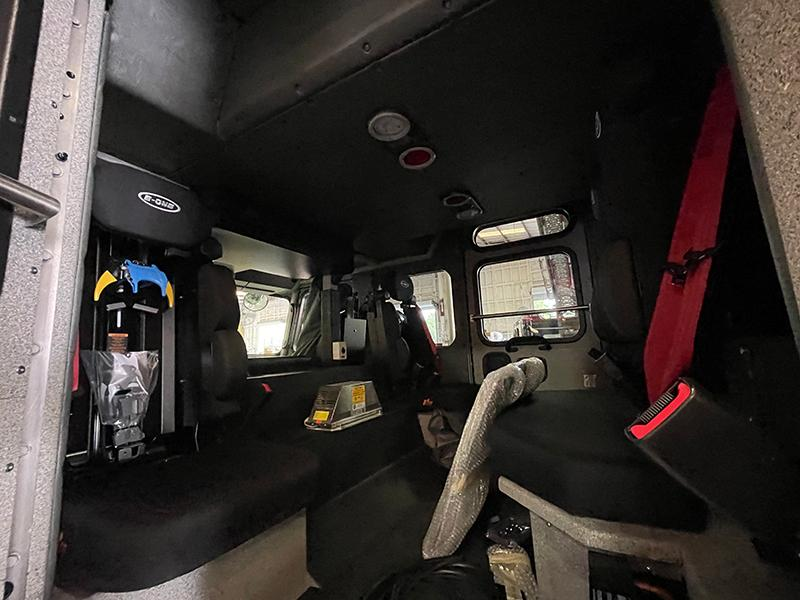 Interior of the Cab from the Rear Seats.